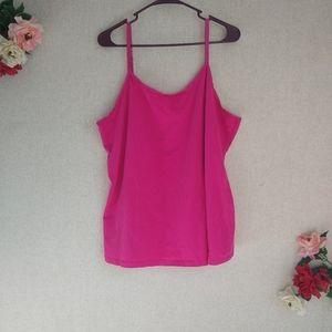 3/$20! Lane Bryant Pink Layering Cami Tank Top